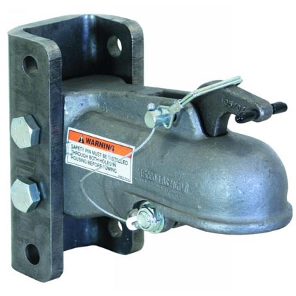 "Picture of 2-5/16"" Heavy-Duty Cast Coupler with 3-Position Channel and Fasteners"