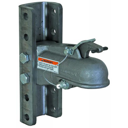 "Picture of 2-5/16"" Heavy-Duty Cast Coupler with 5-Position Channel and Fasteners"