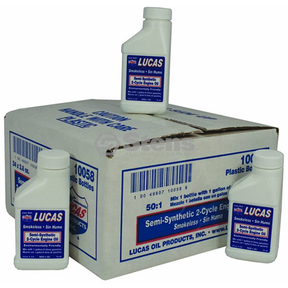 Picture of Lucas Oil Semi-Synthetic 2-Cycle Oil - CASE of 24 x 2.6 oz. Bottles