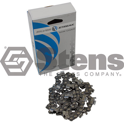 Picture of 67 Link .325 Semi-Chisel, .063 Gauge Silver Streak Pre-Cut Standard Saw Chain