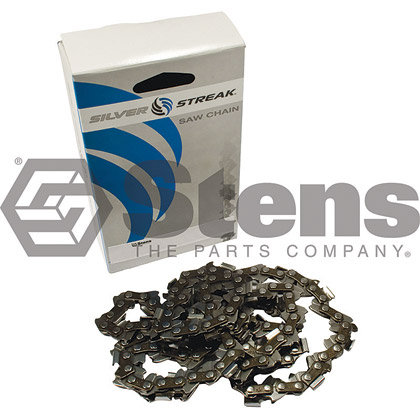 Picture of 72 Link .325 Semi-Chisel, .050 Gauge Silver Streak Pre-Cut Reduced Kickback Saw Chain