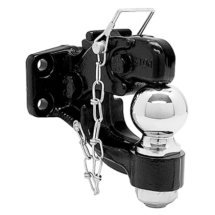 "Picture of 8-Ton Combination Hitch with 2"" Chrome Ball and Mounting Kit - PACK OF 5"