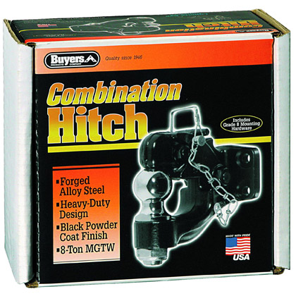 "Picture of 8-Ton Combination Hitch with 2-5/16"" Chrome Ball & Mounting Kit - PACK OF 5"