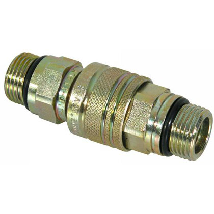 Picture of Male/Female Coupler Complete 3/4-16 Valve Block Side