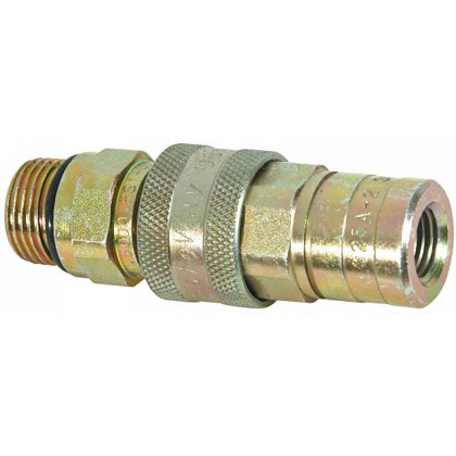 "Picture of 1/4"" NPT Coupler - Female Hose - Male Block"