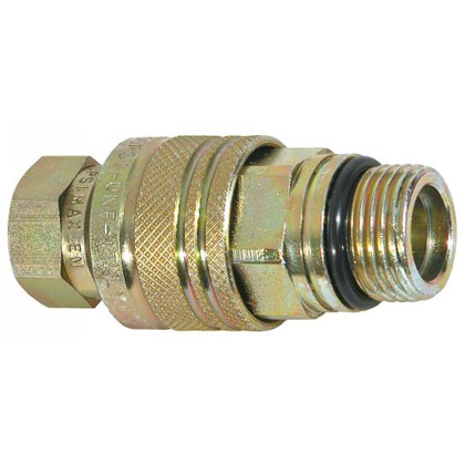 "Picture of 1/4"" NPT Coupler - Male Hose - Female Block"