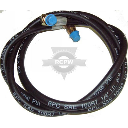 "Picture of 70"" Hose with 2 Swivels"