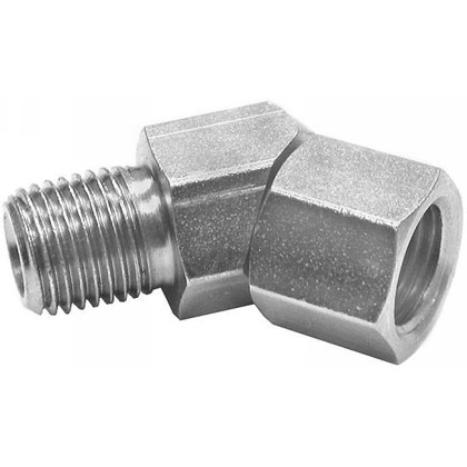"Picture of Diamond Snow Plow 1/4"" NPT Male 45 Degree Female Swivel"