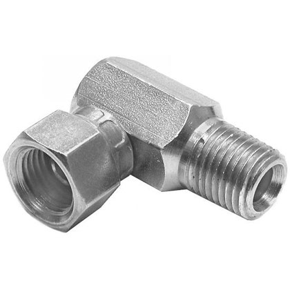 "Picture of Diamond Snow Plow 1/4"" NPT Male 90 Degree Female Swivel"
