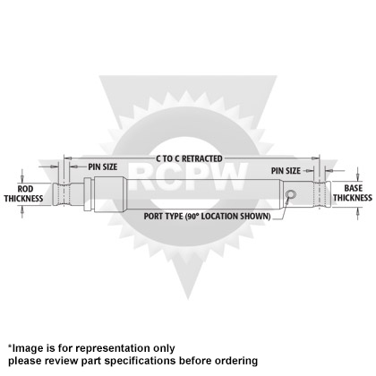 Picture of Single Acting Plow Angle Cylinder