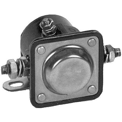 Picture of 12V Plastic Case Solenoid (Insulated) - Ground to Activate