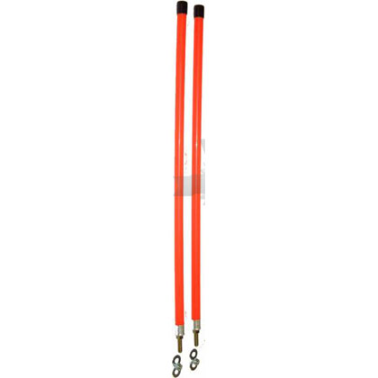 "Picture of 3/4"" x 28"" Fluorescent Orange Marker Kit - Stud Mount"
