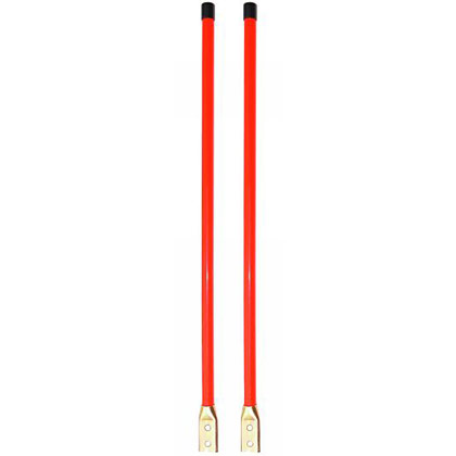 "Picture of 3/4"" x 28"" Heavy-Duty Fluorescent Orange Marker Kit - Bolt-On Base"