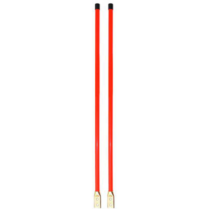 "Picture of 3/4"" x 36"" Fluorescent Orange Marker Kit - Bolt-On Base"