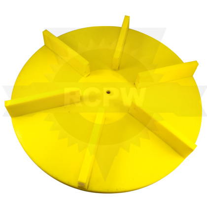 "Picture of 18"" Yellow Poly Spinner, Straight"