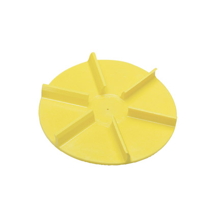 """Picture of 20"""" Yellow Poly Spinner, CW"""