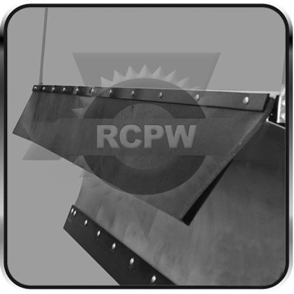 "Picture of 80"" x 3/8"" Thick Belted Rubber V-Plow Snow Deflector"