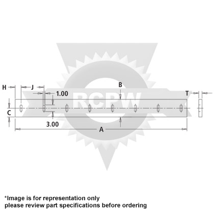 "Picture of 2 Meter Rubber Cutting Edge - 1"" x 6"" x 78"""