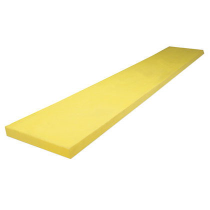 """Picture of Yellow Poly Cutting Edge - 8' (96"""" x 1-1/2"""")"""