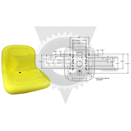 "Picture of 15"" Yellow High Back Seat"