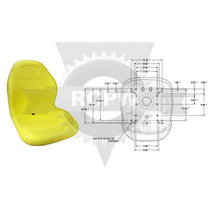"Picture of 20"" Yellow High Back Seat"