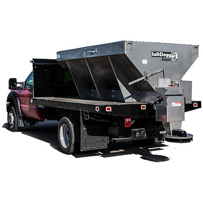 Picture of Buyers SaltDogg 4.0 Cubic Yard Electric Powered Stainless Steel Hopper Salt Spreader Kit