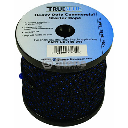 "Picture of #4-1/2 100' 9/64"" True-Blue Solid Braid Starter Rope"