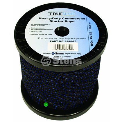 "Picture of #5-1/2 100' 11/64"" True-Blue Solid Braid Starter Rope"