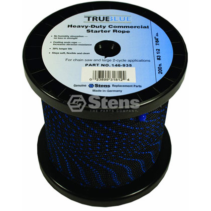"Picture of #3-1/2 200' 7/64"" True-Blue Solid Braid Starter Rope"