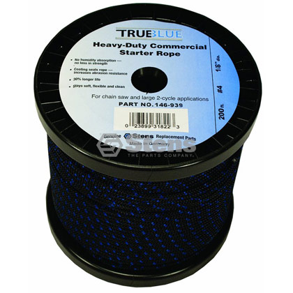 "Picture of #4 1/8"" True-Blue Starter Rope"