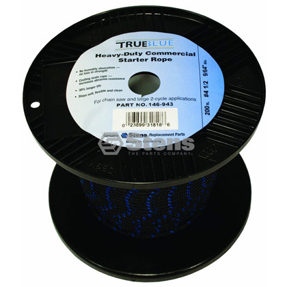 "Picture of #4-1/2 200' 9/64"" True-Blue Solid Braid Starter Rope"