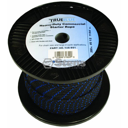 "Picture of #5-1/2 200' 11/64"" True-Blue Solid Braid Starter Rope"