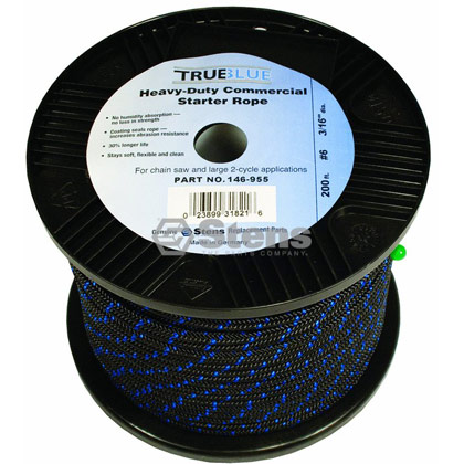 "Picture of #6 200' 3/16"" True-Blue Solid Braid Starter Rope"