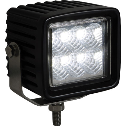 Picture of 12V-24V 6 Clear LED Square Flood Light