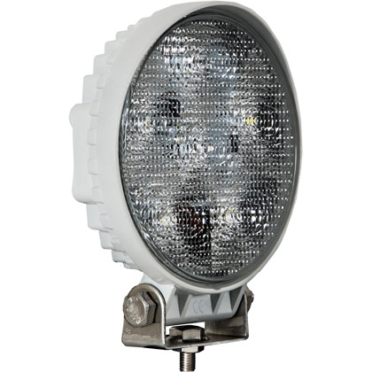 "Picture of White Powder Coated 4.5"" Clear Round 6 LED Flood Light"