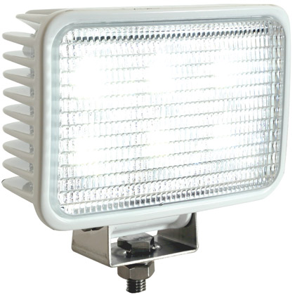 Picture of 6 LED Clear Rectangular Spot Light with White Housing