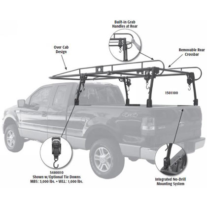 Picture of Steel Pickup Truck Ladder Rack