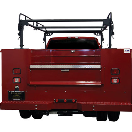Picture of 13.5' Black Steel Ladder Rack for Utility Body