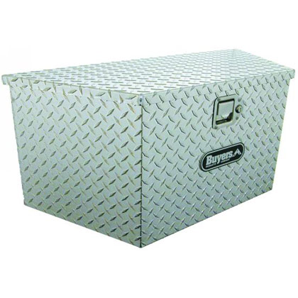 "Picture of 18.5 x 15"" x 49""/37"" Aluminum Trailer Tongue Toolbox"