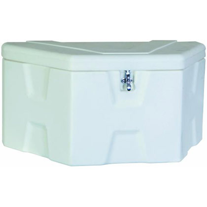 "Picture of 18"" x 19"" x 36""/18"" White Polymer Trailer Tongue Toolbox"