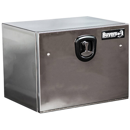 "Picture of 18"" x 18"" x 30"" Highly Polished Steel Underbody Toolbox with Stainless Steel Door"