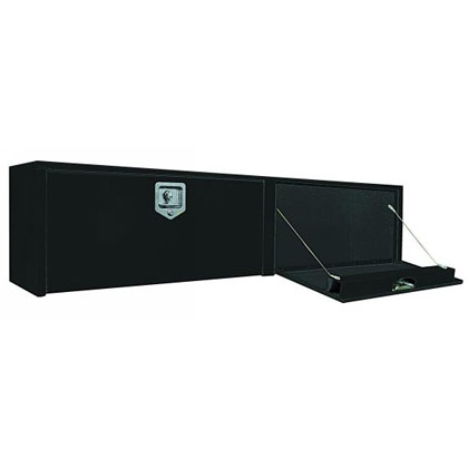 """Picture of 16"""" x 13"""" x 96"""" Black Steel Topside Toolbox with 2 T-Handle Latches"""
