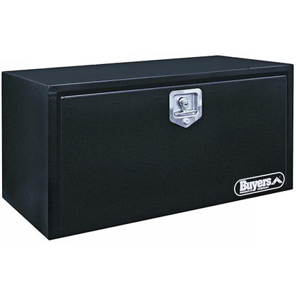"Picture of 24"" x 24"" x 30"" Black Steel Underbody Drop Door Toolbox with T-Handle Latch"