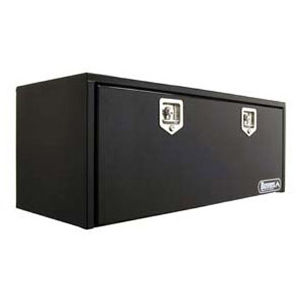 "Picture of 24"" x 24"" x 36"" Black Steel Underbody Drop Door Toolbox with T-Handle Latch"