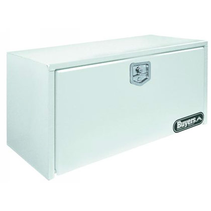 "Picture of 24"" x 24"" x 36"" White Stainless Steel Underbody Toolbox with T-Handle Latch"