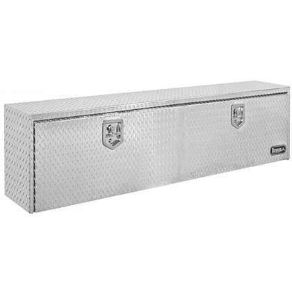 "Picture of 18"" x 24"" x 48"" Aluminum Underbody Toolbox with Aluminum Recessed Door and 2 T-Handle Latches"