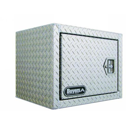 "Picture of 18"" x 18"" x 24"" Aluminum Barn-Door Style Underbody Toolbox with Left Swing Single Door and T-Handle Latch"