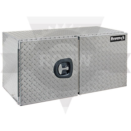 "Picture of 18"" x 18"" x 36"" Aluminum Diamond Tread Double Barn-Door Style Underbody Toolbox"