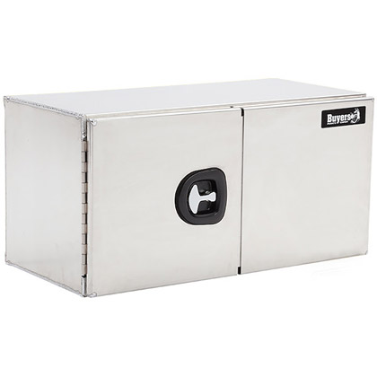 """Picture of 18"""" x 18"""" x 48"""" Double Barn Door Smooth Aluminum Tool Box"""