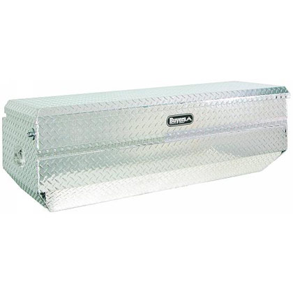 "Picture of 19"" x 27"" x 60"" Aluminum All-Purpose Chest Fits Long Bed Full-Size Pickups (side slant on chest)"